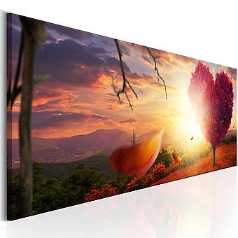 Canvas print-herfst hart
