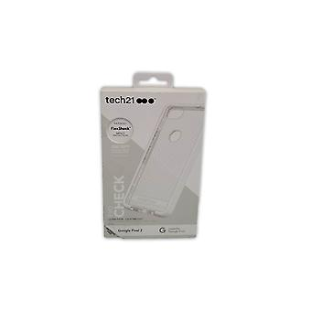 Tech21 Ultra-Thin Evo Check Protective Gel Case for Google Pixel 2 - Clear/White
