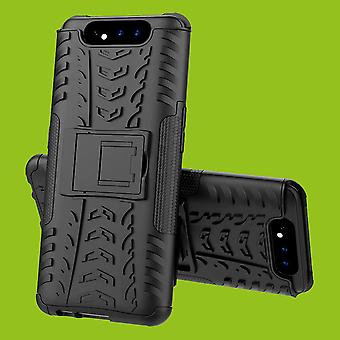 For Samsung Galaxy A80 Hybrid Case 2Parts Outdoor Black Case Cover Cover Protection