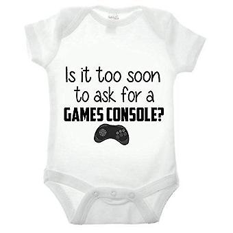 Is it too soon to ask for a games console short sleeve babygrow