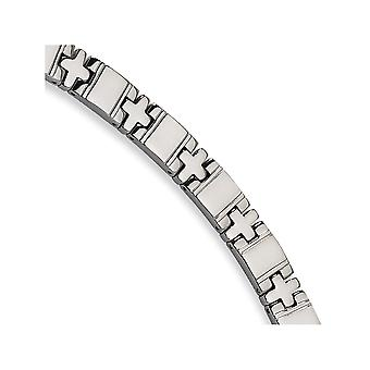 Titânio dobrável polido pulseira - 8,25 polegadas