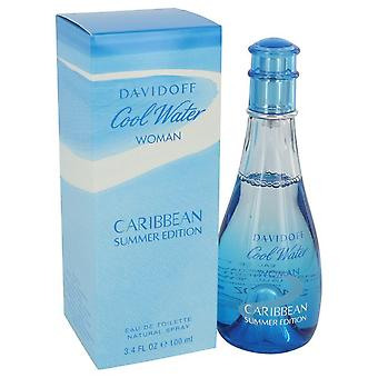 Cool Water Caribbean Summer by Davidoff Eau De Toilette Spray 3.4 oz / 100 ml (Women)