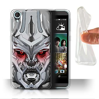 STUFF4 Gel/TPU Case/Cover for HTC Desire 820s Dual/Mega-Bot Red/Robots