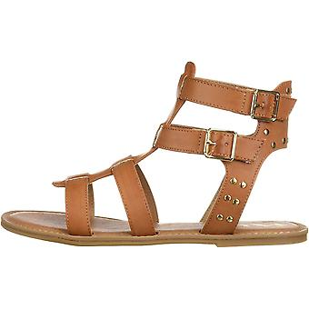 NINA Girls' brunilda Sandal, tan, 2 Medium US Little Kid