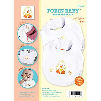 Tobin Baby Ente Softtouch Lätzchen Stickerei Kit Set von 2 T21902