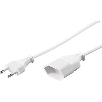 Current Extension cable [ Europlug - Euro connector] White 2 m GAO 88704