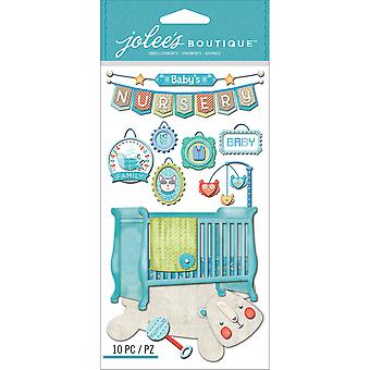 Jolee's Boutique Dimensional Stickers-Baby Boy - Nursery E5050630