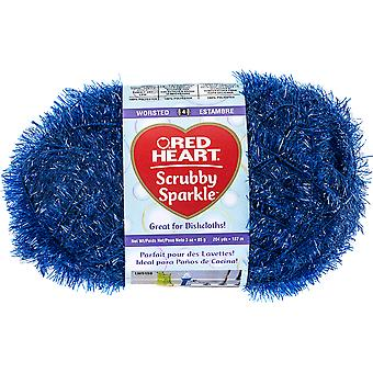 Red Heart Scrubby Sparkle Yarn-Blueberry E851-8830