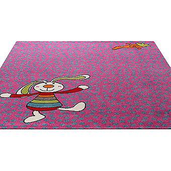 Regenbogen-Kaninchen-Teppich In Rosa 0523-03