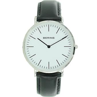 Bering mens watch wristwatch slim classic - 13738-404 leather
