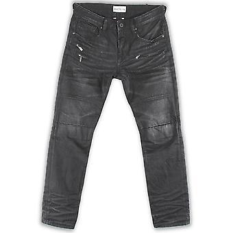 Rivet De Cru Senica Rock Wash Moto Tapered Jeans