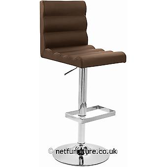 Buena Height Adjustable Bar Stool - Faux Leather Padded Seat