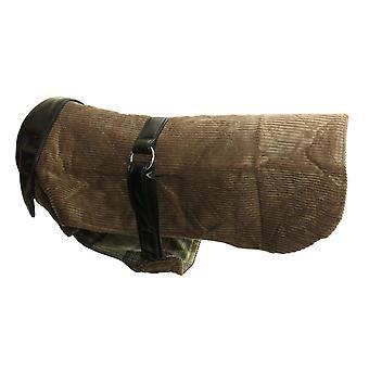 Fløjlsbukser & læder frakke brun 16