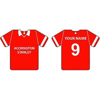 Personalizado Accrington Stanley fútbol camisa ambientador