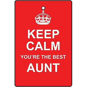 Keep Calm You're The Best Aunt Car Air Freshener