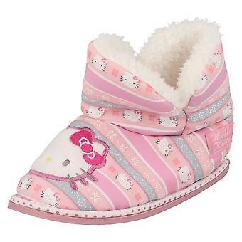 Girls Character Hello Kitty Bootie Slippers