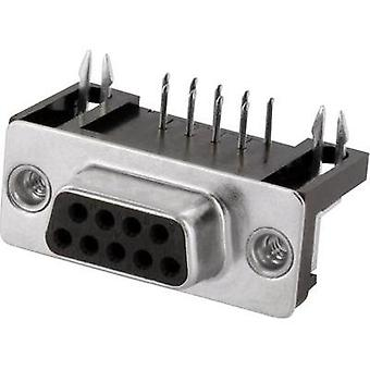 D-SUB receptacles 90 ° Number of pins: 9 Solder pins econ connect BU9WB/9G 1 pc(s)