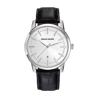 Pierre Cardin mens watch wristwatch ALFORT leather PC901861F01