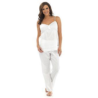 Ladies Wolf & Harte Printed Cotton Chemise & Trouser Sleepwear