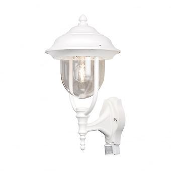 Konstsmide Parma White Motion Sensor Exterior Wall Lantern