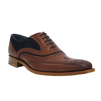 Barker Shoes Mens Shoe McClean Rosewood Calf/Navy