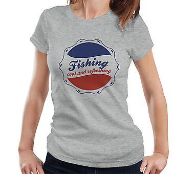 Kühl und erfrischend Pepsi-Logo Damen T-Shirt Angeln