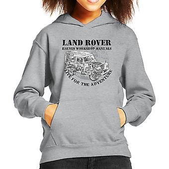 Haynes Owners Workshop Manual Land Rover Adventure Black Kid's Hooded Sweatshirt