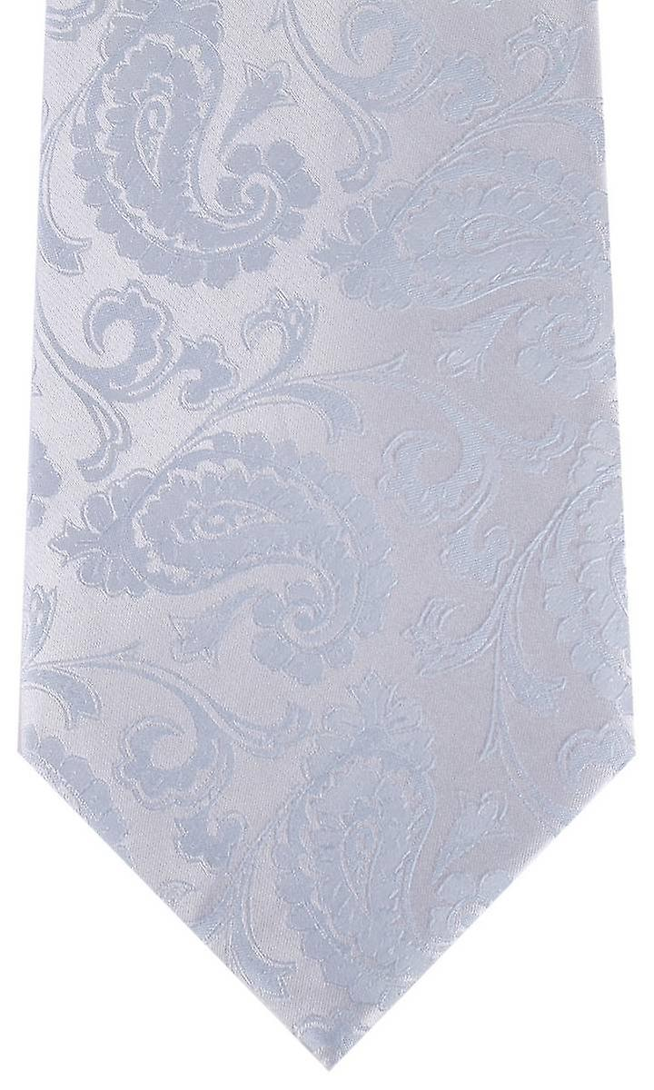 David Van Hagen Paisley Tie - Light Blue