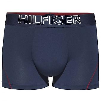 Tommy Hilfiger Cotton Athletic Trunk, Navy / Red Stitching, Large