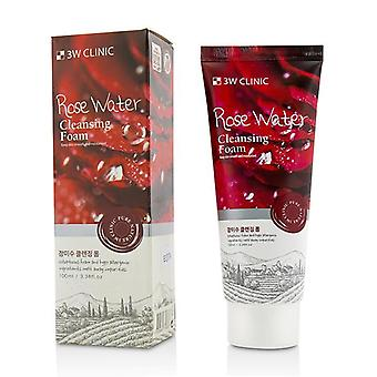 3w Clinic Cleansing Foam - Rose Water - 100ml/3.38oz