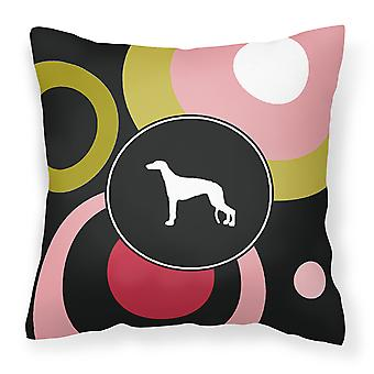 Carolines Treasures  KJ1037PW1414 Greyhound Decorative   Canvas Fabric Pillow