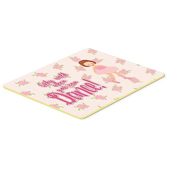 Carolines Treasures  BB5383CMT Ballet Red Short Hair Kitchen or Bath Mat 20x30