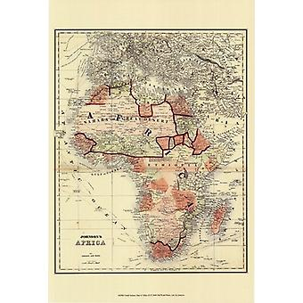 Small Antique Map of Africa (P) Poster Print by Scott Johnson (13 x 19)