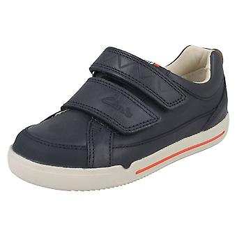 Boys Clarks Double Strap Casual Shoes Lil Folk Toby