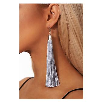 The Fashion Bible Nico Blue Tassel Earrings