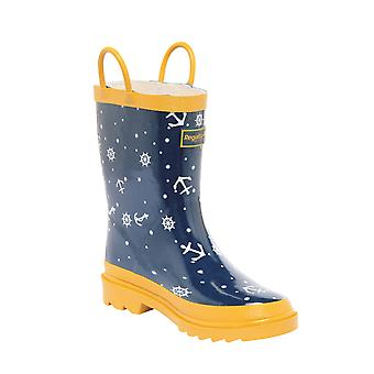 Regatta Great Outdoors Childrens/Kids Minnow Patterned Wellington Boots
