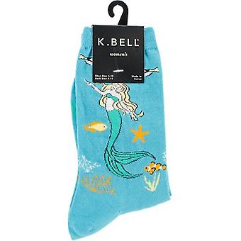 Novelty Crew Socks-Mystical Mermaid NOVSOCKS-6H002