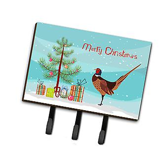 Ring-necked Common Pheasant Christmas Leash or Key Holder