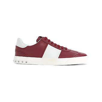 Valentino Garavani men's NY0S0A08HCM28W white/red leather of sneakers