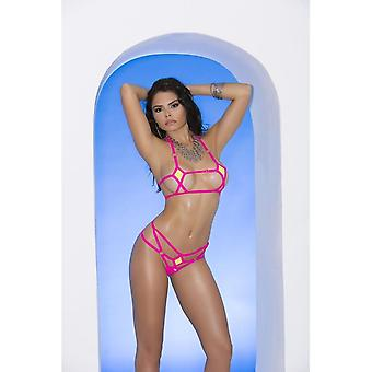 Elegant Moments Vivace EM-82050 Lycra bikini top and matching g-string