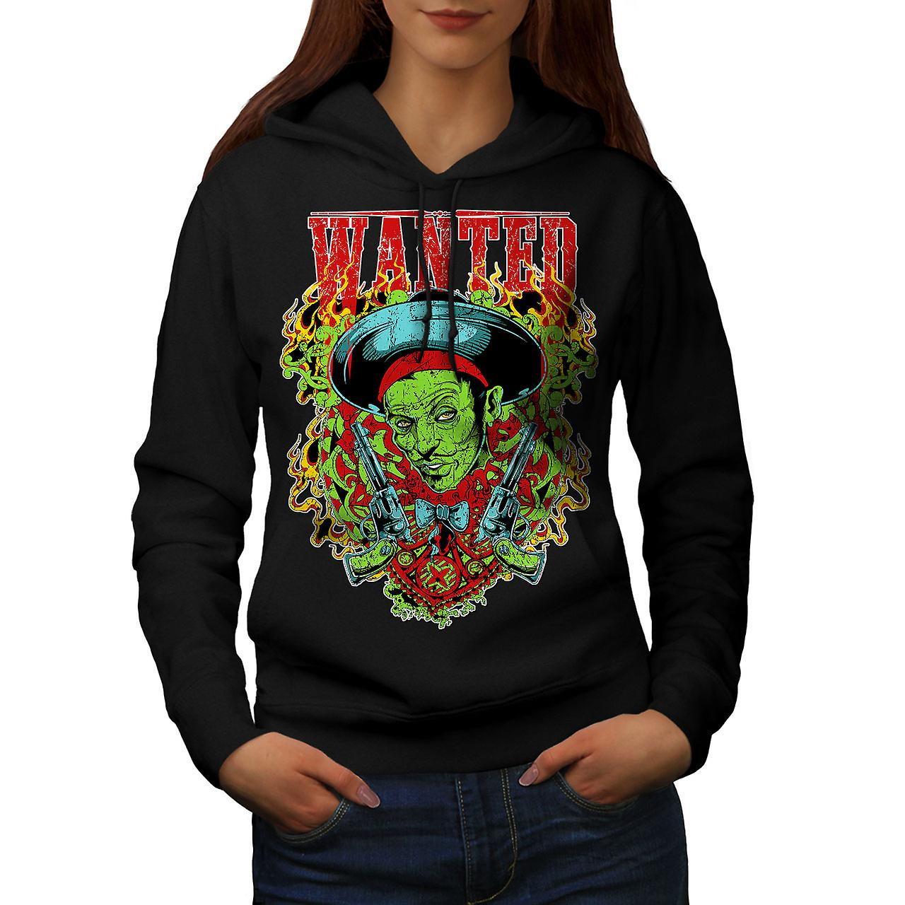Sombrero Zombie Gangster Women Black Hoodie | Wellcoda