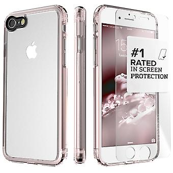 SaharaCase iPhone 8 & 7 Rose Gold Case, Clear Protective Kit Bundle with ZeroDamage® Tempered Glass
