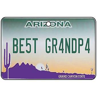 Arizona - Best Grandpa License Plate Car Air Freshener