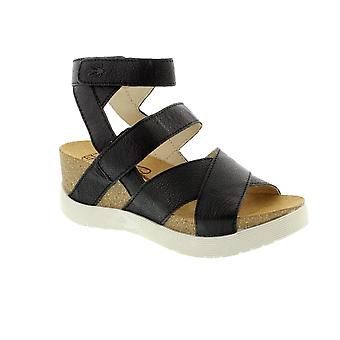 Fly London Wege Mousse - Black (Leather) Womens Sandals Various