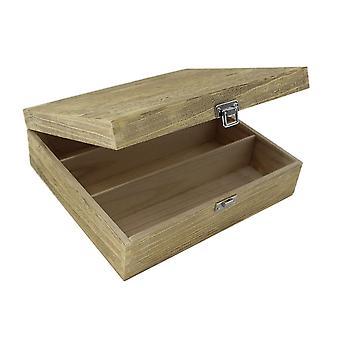 Three Bottle Oak Effect Wooden Box