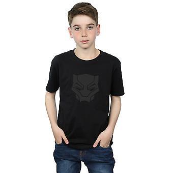 Marvel Boys Black Panther Black On Black T-Shirt