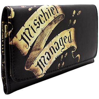 Warner Harry Potter Marauders Map Coin & Card TriFold Purse