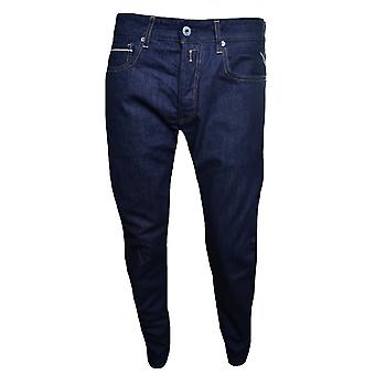 Replay Replay Men's Grover Dark Blue Denim Straight Leg Jeans