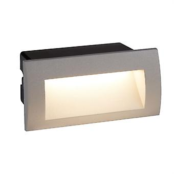 Ankle LED Indoor/Outdoor Recessed Rectangle, Grey - Searchlight 0662GY