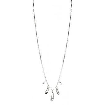 Elements Silver Polished Organic Shape Dew Drop Necklace - Silver